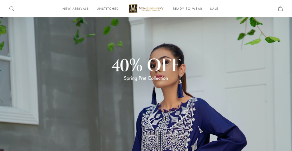 Pakistani Lawn Suits | Mausummery Lawn