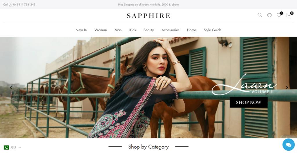 Pakistani Lawn Suits | Sapphire